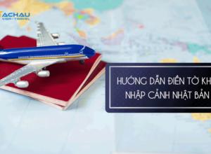 Điền tờ nhập cảnh khi đi du lịch Nhạt Bản