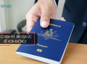 Xin visa du lịch Úc khi có visa Mỹ